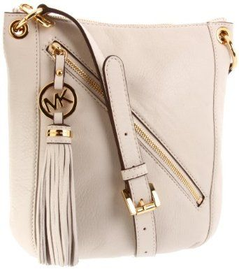 MICHAEL Michael Kors Charm Tassel Crossbody Cross Body Handbags - Bone