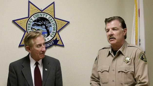 California police car theft scheme: Monterey County District attorney Dean Flippo, left, and Monterey County Sheriff Scott Miller: Monterey ...