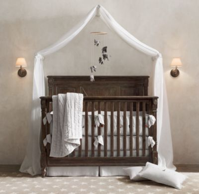 love the fabric over the crib...and the crib is awesome itself!