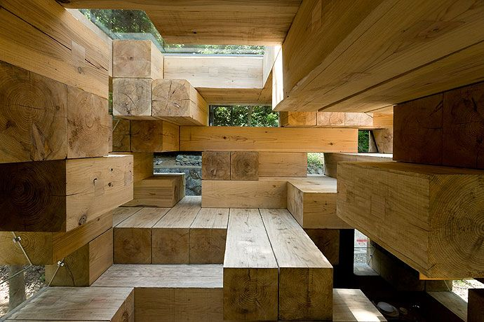 A wooden house in Kumamoto, Japan. by Sou Fujimoto Architects