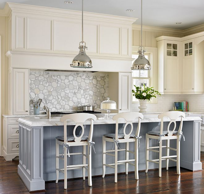 The Kitchen Island Paint Color Is Parma Gray By Farrow And Ball Its Closest