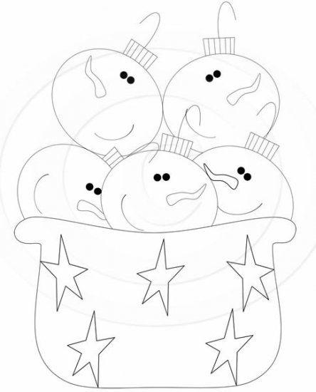 Muñeco de nieve / ornamento Tazón DIGI STAMP Exclusiv por WDG - Haga clic en la imagen para cerrar