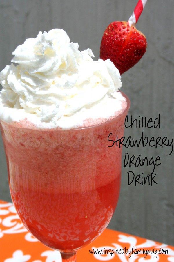 Chilled Strawberry Orange Smoothie