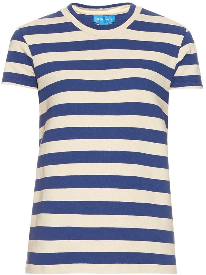 M.I.H JEANS Range short-sleeved striped cotton T-shirt