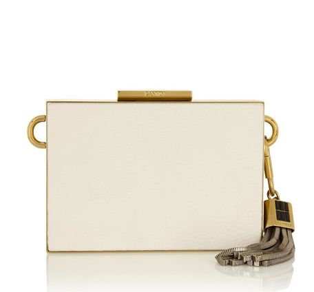 LANVIN - Textured-leather clutch