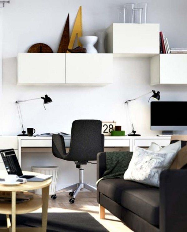52 Best Home  Workspace Images On Pinterest  Office Spaces Stunning Living Room Office Ideas Decorating Inspiration
