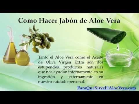 Como Hacer Jabon de Aloe Vera https://www.youtube.com/watch?v=j5SuJyE4awU#t=37…