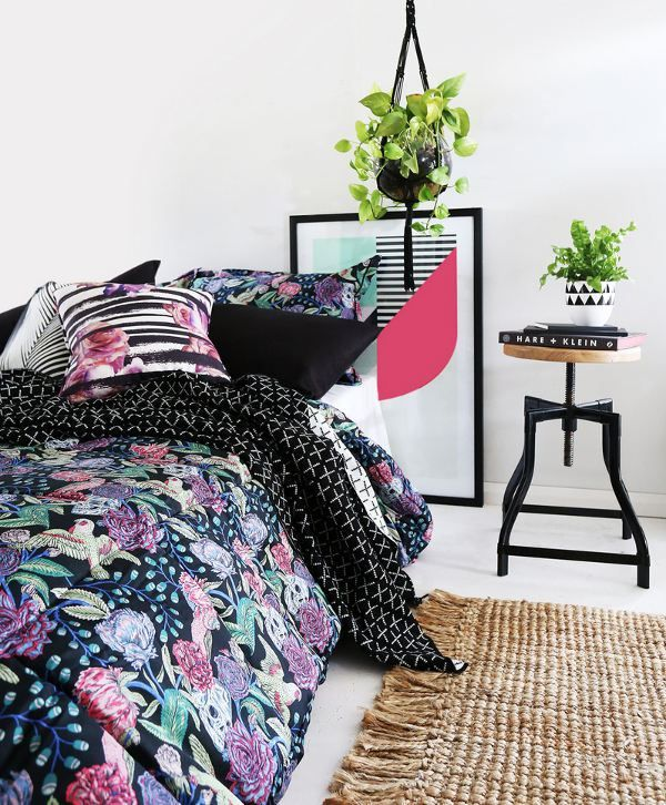 Black Skulls and Roses Bedding from Sanctuary Boutique Bedding on The Life Creative