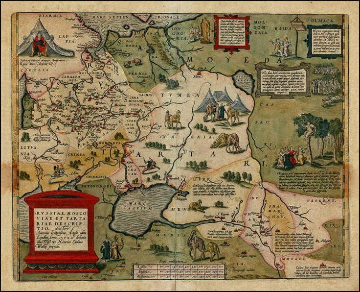 Russiae, Moscoviae et Tartariae Descriptio Auctore Antonio Ienkensono Anglo edita Londini 1562 & dedicata illustriss D. Henrico Sydneo Walli...