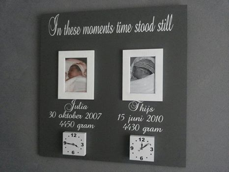 Geboorte bord