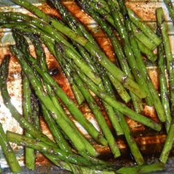 Baked Asparagus with Balsamic Butter Sauce Allrecipes.com
