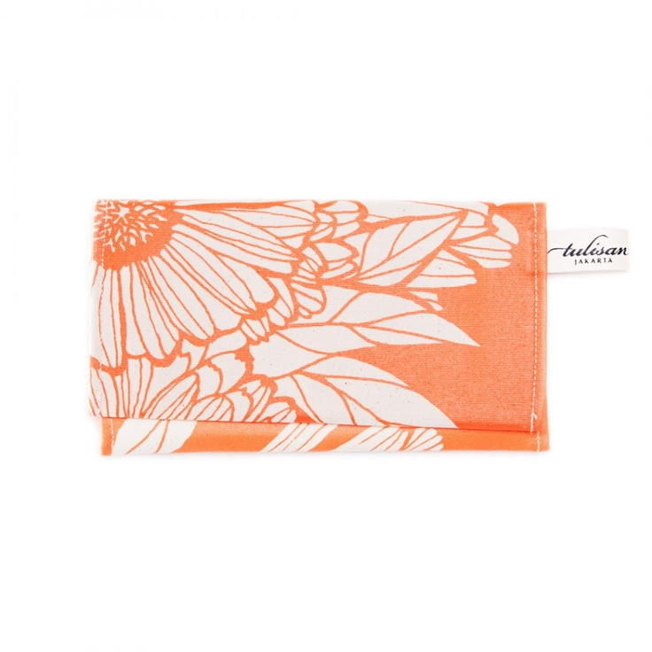 Accessories: Olio Clutch Orange Oriental $47