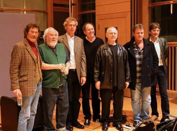 Michael Giles,Pete Sinfield.Bill Bruford, David Cross, Robert Fripp,John Wetton y Mel Collins. #KingCrimson