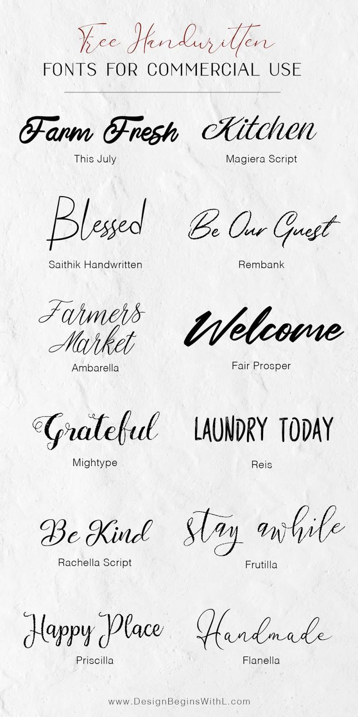 12 Free Farmhouse Fonts For Commercial Use in 2020 (With