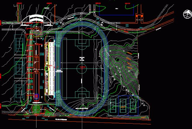 Plan-Autocad-Stade -dwg