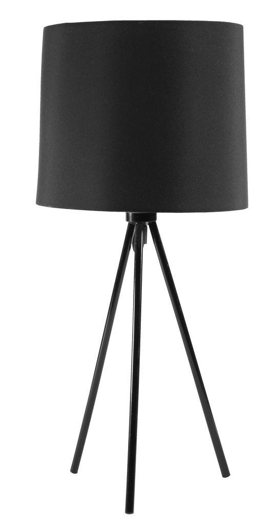 Lampa stołowa HERLUF Ś23xW49cm czarna | JYSK