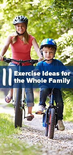 It can be so hard to get everybody moving. Here are 11 helpful ideas to get you and the whole family onto exercise.