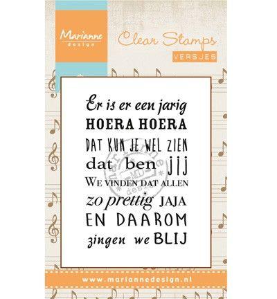 Marianne Design - Clearstamp - Liedje: Er is er een jarig Knutselruimte AGUINIJ
