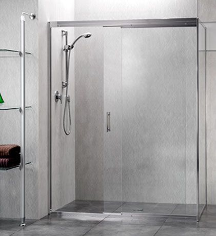Trident Sliding Shower Screen on a large tiled shower