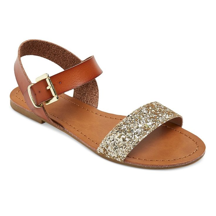Women's Lakitia Glitter Straps Quarter Strap Sandals Mossimo Supply Co. - Gold 7.5