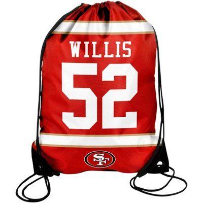 Patrick Willis San Francisco 49ers Player Drawstring Backpack - Scarlet