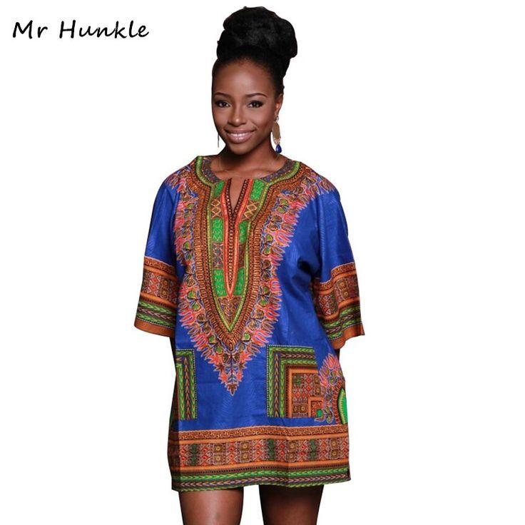 Women Short Sleeve Fashion African Print Loose T-shirt Dashiki Dress 2016 New Vintage Summer Ethnic Dresses Lady Plus Size