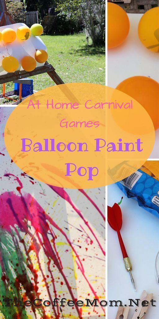 Balloon Paint Pop   Recipe   work   Carnival games for kids, Balloon ...