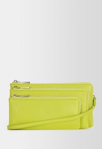 Danier Official Store, Andrea smooth leather crossbody, lime, Handbags, 131011389