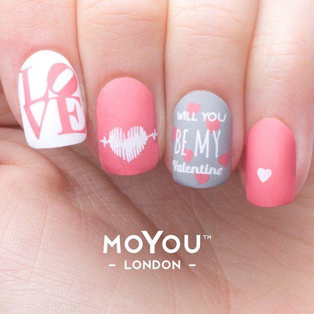 1667 best Valentine Day Nails images on Pinterest | Valentine nail ...