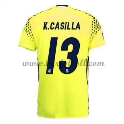 Real Madrid Fotbollströja 2016-17 Casilla Målvakt Borta Tröjor