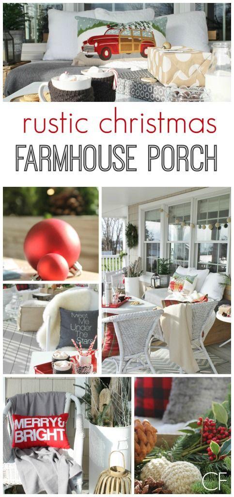 Rustic Christmas Farmhouse Porch City Farmhouse