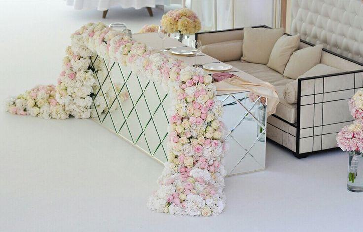 Wedding decor, wedding, wedding flowers, table flowers, президиум, стол пары, свадебный декор