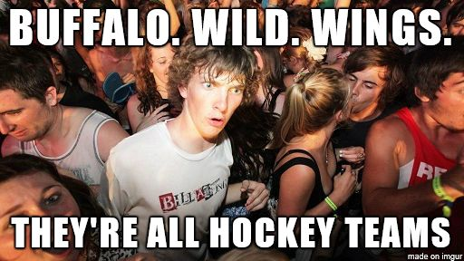Except the restaurant plays too many other stupid sports instead of hockey..