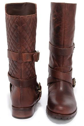 Matisse Rosalie - Brown Leather Boots - Mid Calf Boots - $207.00