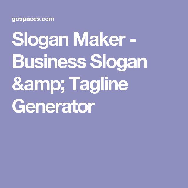 Slogan Maker - Business Slogan & Tagline Generator