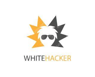 White Hacker Logo Design