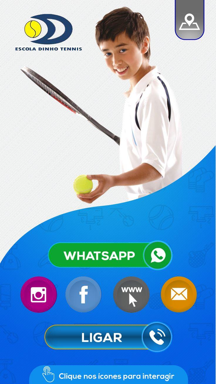 Cartão Interativo de Escola de Tennis Cartões