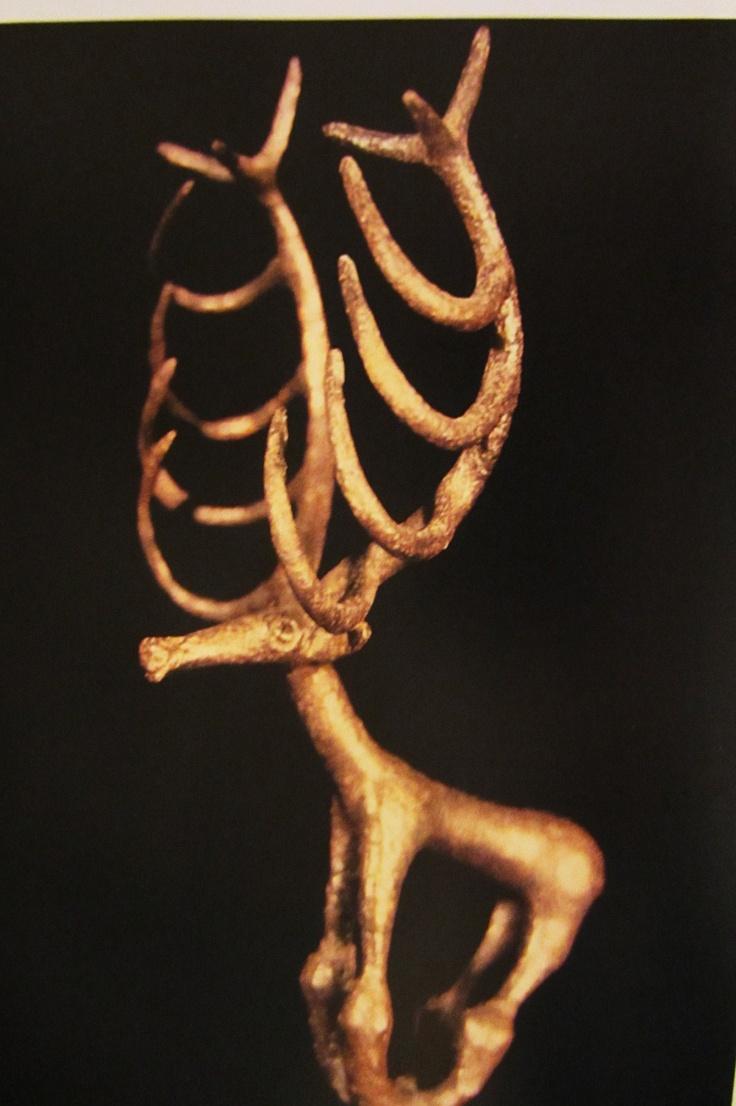 Hallazo prehistórico de Anatolia, procedente de Catal Huyuk.  Museo de Arqueología de Estambúl