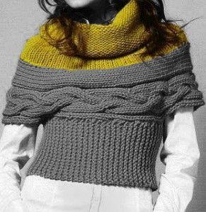 A grande richiesta..... il coprispalle gilet Knitta! - Lavoro a maglia
