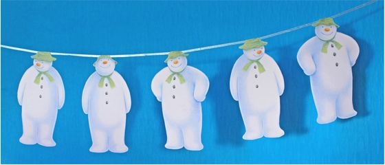 Snowman craft tutorials garland. You could sequence the story events on each Snowman and string them in order.