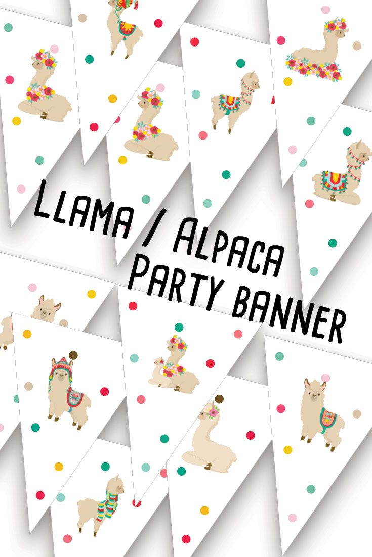 ◆Llama Alpaca party banner, Printable birthday bunting, Cinco de mayo garland, Instant Mexican party banner◆  INSTANT DOWNLOAD - This super fun llama and alpaca party banner is now available to decorate your llama/alpaca/mexican party. Comes in A4 and Letter size so you can easily print at home. Both small and large pennants available.