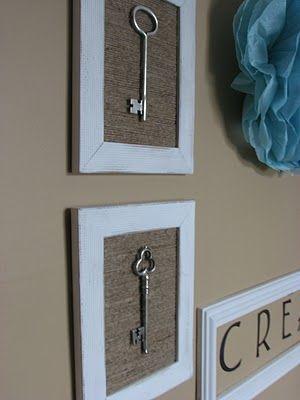 twine and a frame- kappa key