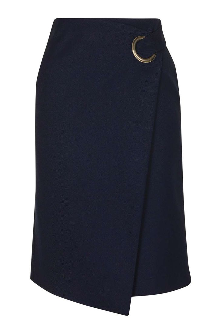 topshop // premium wrap midi skirt