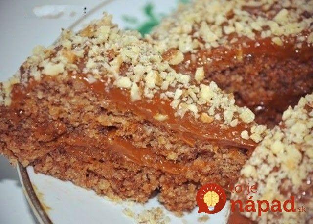 5-minútový orechový koláč bez múky a oleja!