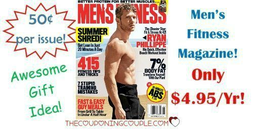 Great magazine for the guy in your life! Snag Men's Fitness for only $4.99/year! That is the same price as one issue at a store!  Click the link below to get all of the details ► http://www.thecouponingcouple.com/mens-fitness-magazine-only-4-95-year-0-50-per-issue/ #Coupons #Couponing #CouponCommunity  Visit us at http://www.thecouponingcouple.com for more great posts!