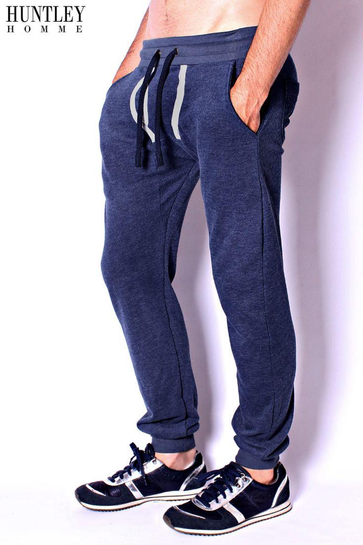 Blue Y-Front Sweat Pants