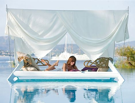 Romantic Outdoor Canopy Bed by Ego Paris