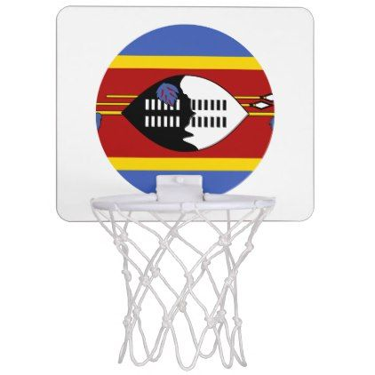 #Swaziland Flag Mini Basketball Hoop - #country gifts style diy gift ideas