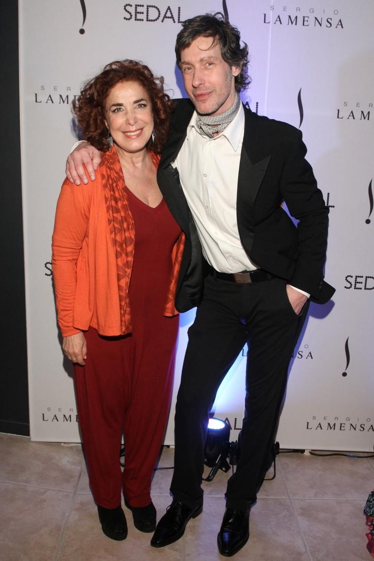 Mirta Busnelli y Sergio Lamensa en la Inauguración de la peluquería de Sergio Lamensa. #Eventos