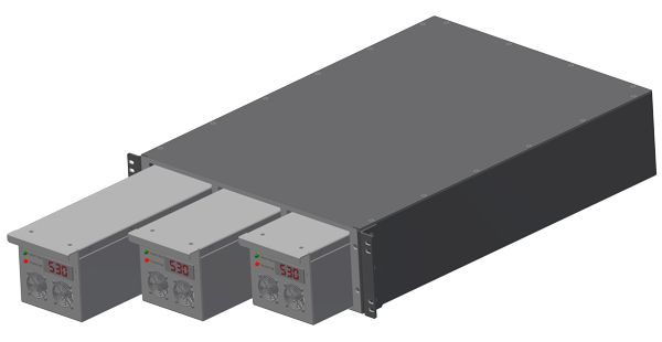 Modular DC to DC Converter - Meets MIL STD 704, MIL STD 461, and MIL STD 810  A fully modular N+1 system with the flexibility to meet the needs of many applications.  Easily change voltage configurations with field swappable modules